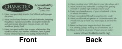 Teens Laminated Accountability Questions