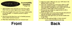 Women's Laminated Accountability Questions.